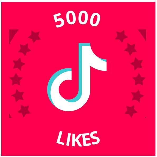 5000 tiktok likes
